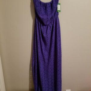 NWT Lilly Pulitzer Emmett Maxi Dress, M, Purple